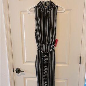 Adorable Sleeveless Striped Xhilaration Jumpsuit